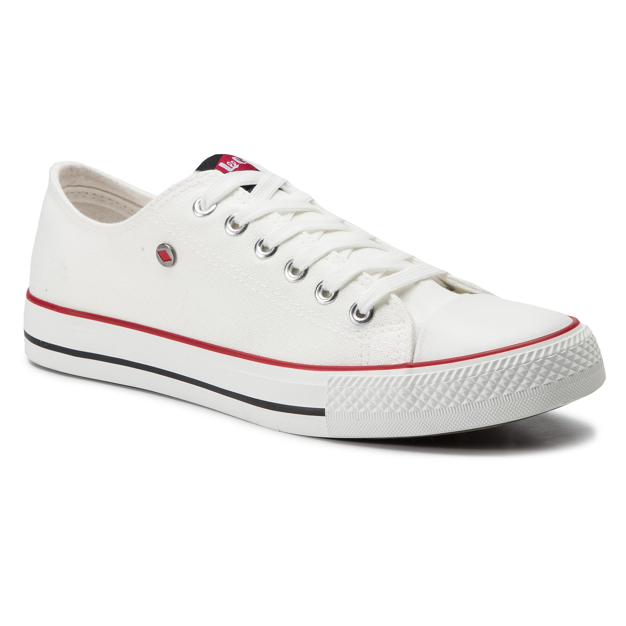 Lee Cooper Sneakers LEE COOPER - Low Cut 3-A LCW-19-530-011 White