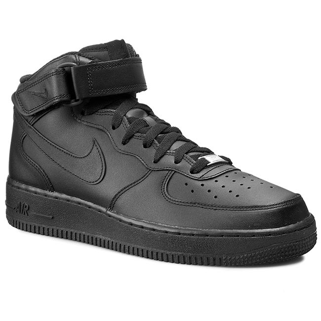 super popular aeb26 d6ead Skor NIKE - Air Force 1 Mid 07 315123 001 Black