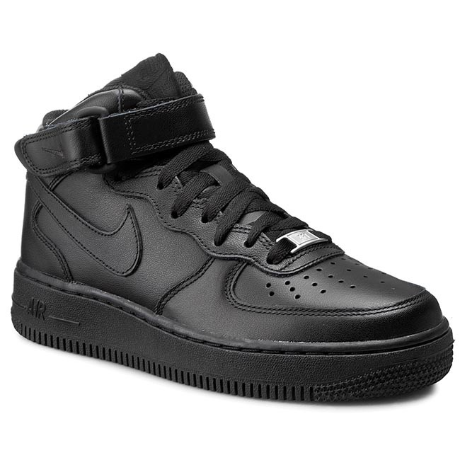 quality design eaac8 8ebab Skor NIKE - Air Force 1 Mid  07 LE 366731 001 Black Black
