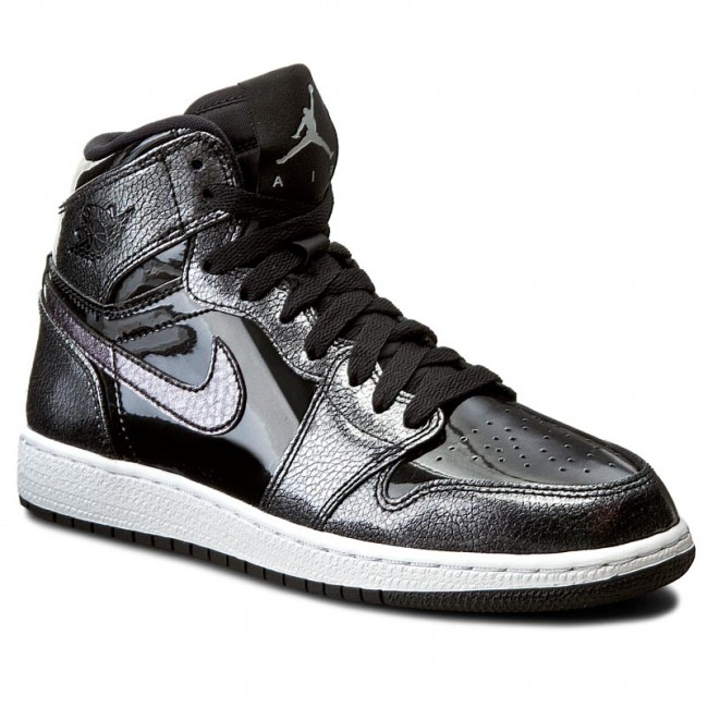reputable site c23f4 f5a22 Skor NIKE - Air Jordan 1 Retro High Bg 705300 017 Black Black White