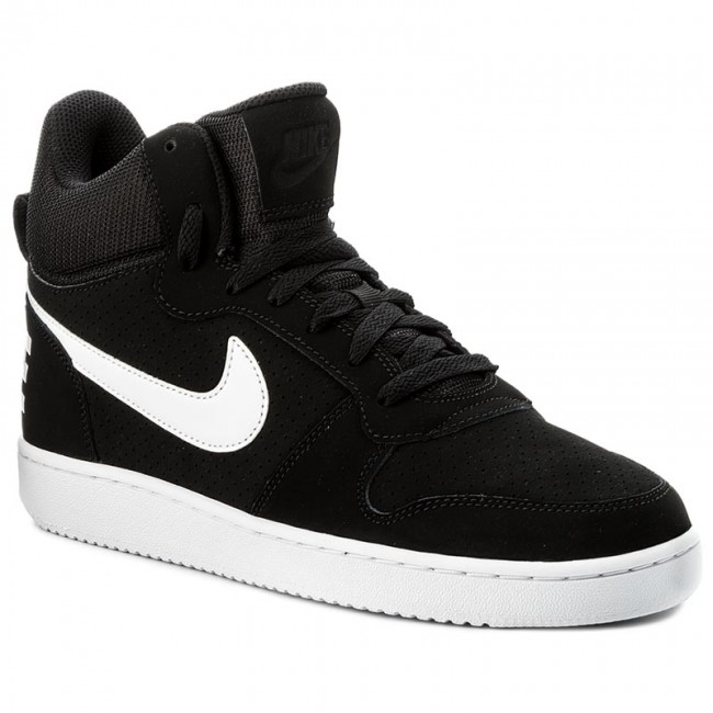 cheaper 014cd 6a219 Skor NIKE - Court Borough Mid 838938 010 Black White