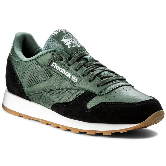 official photos 2d69e 21240 Skor Reebok - Cl Leather Gi BS9746 Chalk Green Black Wht Gum ...
