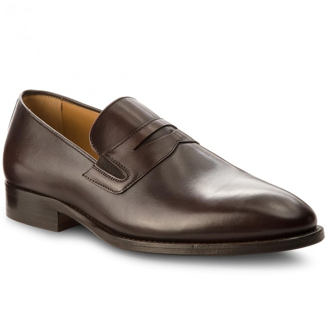 46b7c1eb17a Lågskor TOMMY HILFIGER - Classic Tailored Loafer FM0FM01541 Coffee Bean 212
