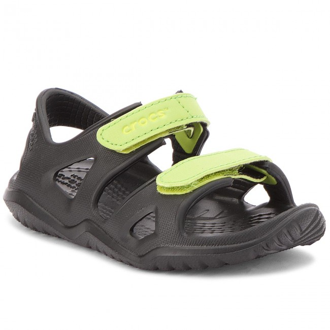 911b85e70c68 Sandaler CROCS - Swiftwater River Sandal K 204988 Black Volt Green ...