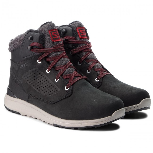 Trekking skor SALOMON Utility Winter Cs Wp 404725 27 V0 BlackBlackRed Dahlia
