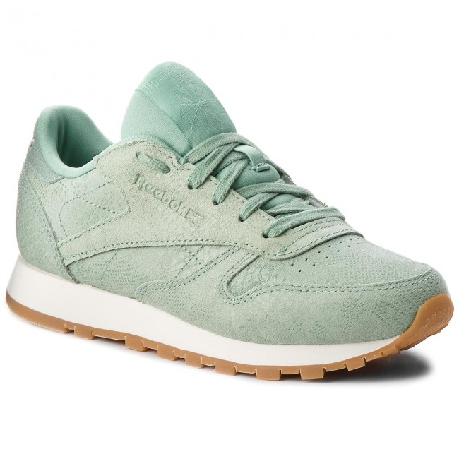 buy popular 620f8 184b0 Skor Reebok - Cl Lthr CN4987 Industrial Green Chalk