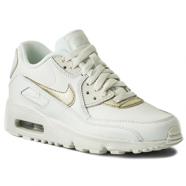 huge selection of 6820a b773b Skor NIKE - Air Max 90 Ltr (GS) 833376 103 Summit White Mtlc