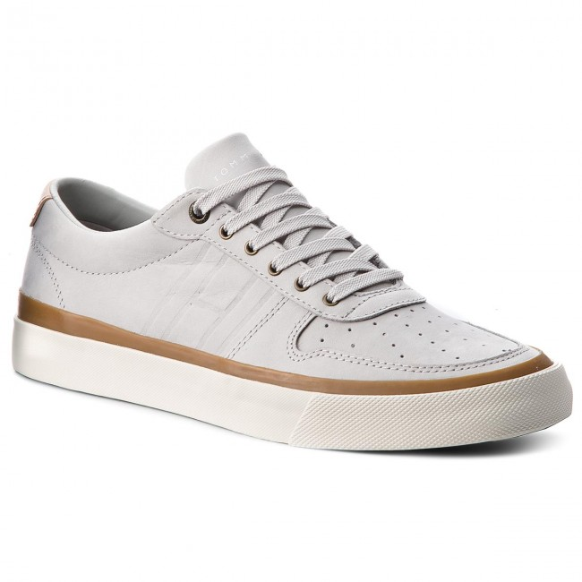 ec323cf6339135 Sneakers TOMMY HILFIGER - Unlined Low Cut Nubuck Sneaker FM0FM01633 Diamond  Grey 001