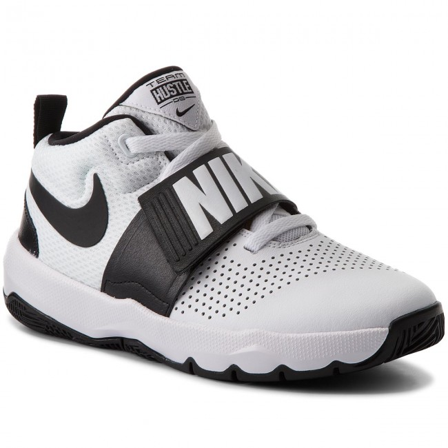 the best attitude 66458 dfa4e Skor NIKE - Team Hustle D 8 (GS) 881941 100 White Black