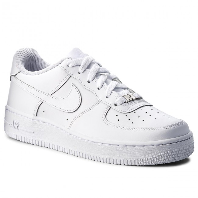 outlet store a3f1c bd83a Skor NIKE - Air Force 1 (Gs) 314192 117 White White White