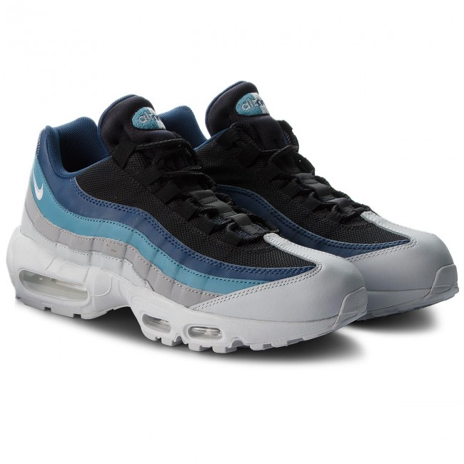 Skor NIKE Air Max 95 Essential 749766 026 Pure PlatinumBlackNavy