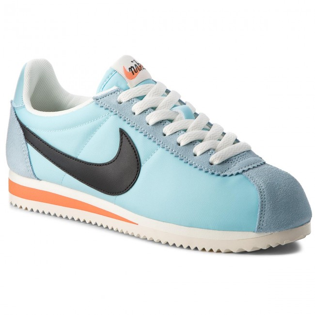 new photos 0baea 9fd96 Skor NIKE - Classic Cortez Nylon Prem 882258 402 Still Blue Black Sail