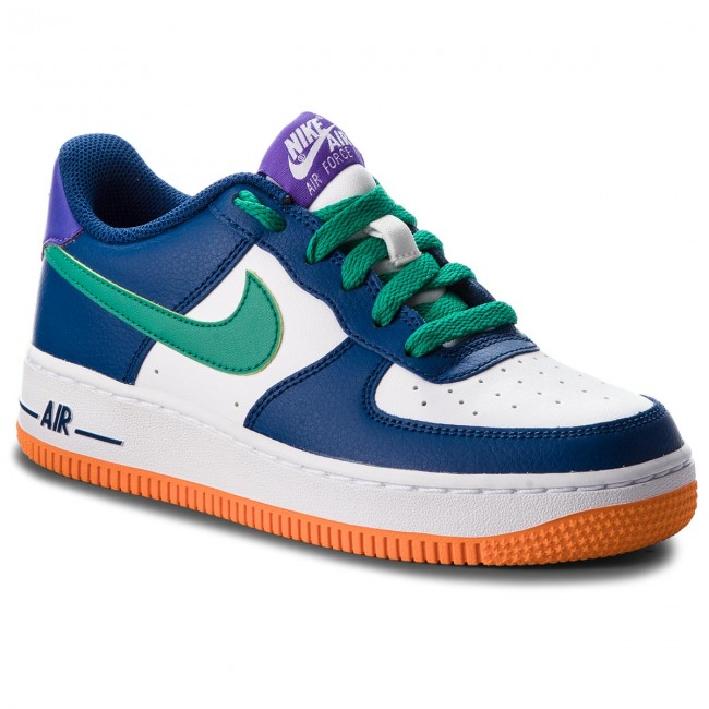 new concept f65be c6a1f Skor NIKE - Air Force 1 (GS) 596728 407 Gym Blue Neptune Green