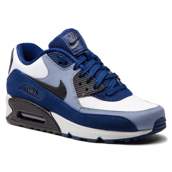 newest 8c7a5 75289 Skor NIKE - Air Max 90 Leather 302519 400 Blue Void Black Ashen Slate