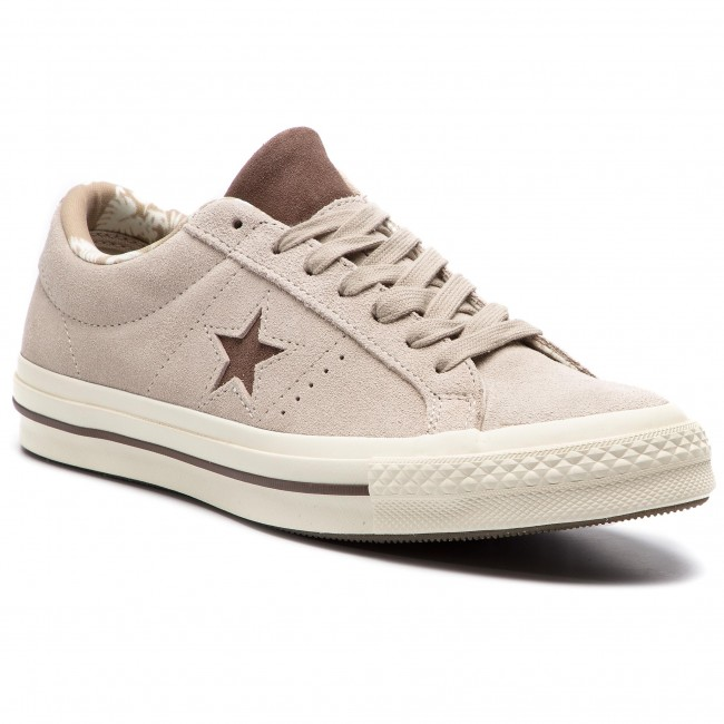 Sneakers CONVERSE - One Star Ox 160586C Papyrus Dark Chocolate Egret ... 1784145668e9f