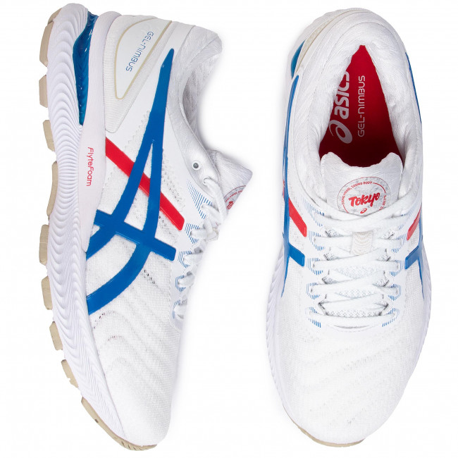 Skor ASICS Gel Nimbus 22 1011A780 WhiteElectric Blue 100