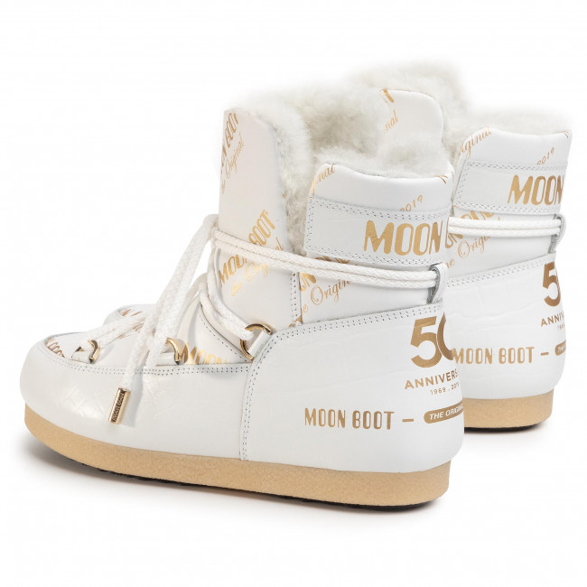 Vinterskor MOON BOOT Mb Far Side 50 All Over 24201700001 White/Gold Vinterskor Stövlar, stövletter mfl Damskor