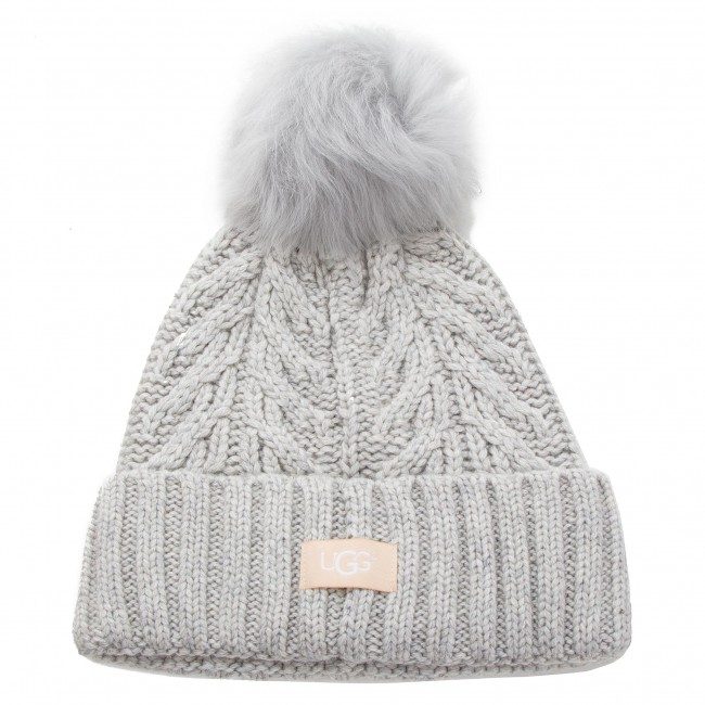 purchase cheap 66e4c 7beb9 Mössa UGG - W Cable Pom Beanie 17493 Light Grey Heather - Dam ...