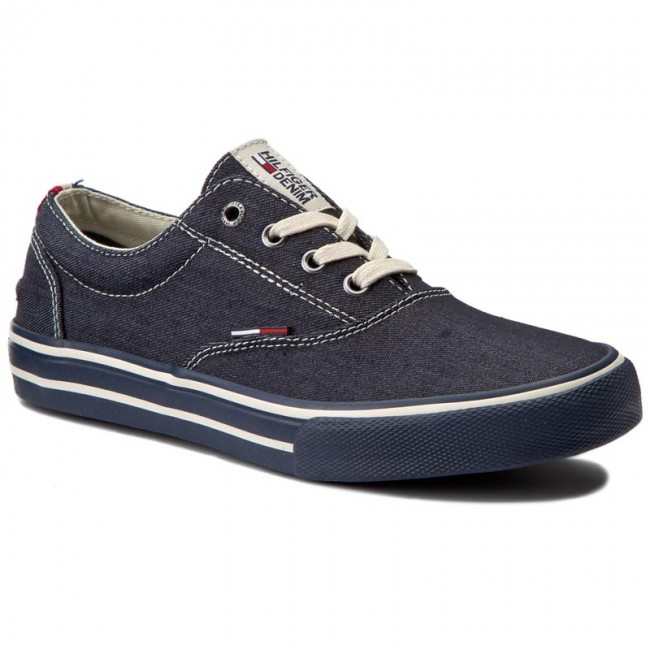 Sneakers TOMMY HILFIGER - DENIM Vic 2F FM0FM00604 Denim 404