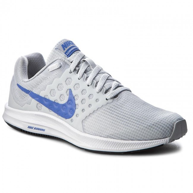 Skor NIKE - Downshifter 7 852466 002 Pure Platinum/Medium Blue