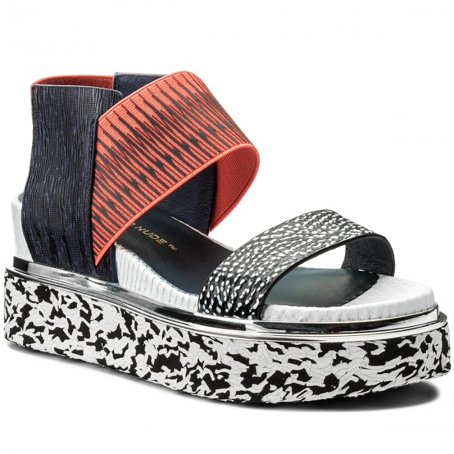 Sandaler UNITED NUDE Rico Sandal 1030444646108 Black And White MixNeon RedNavy