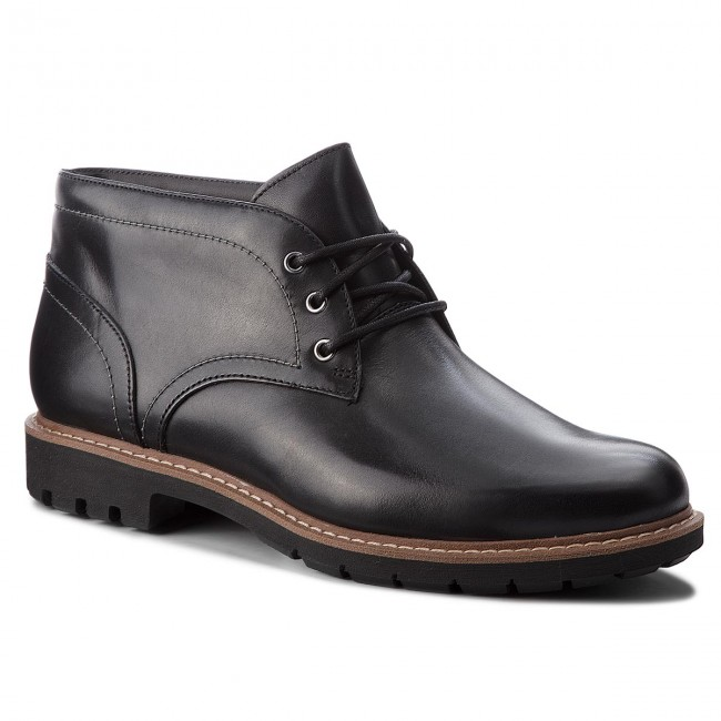 Snörskor CLARKS Batcombe Lo 261274747 Black Leather