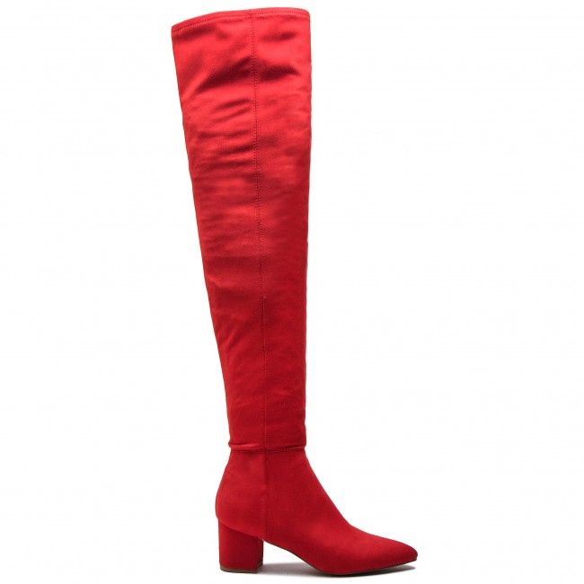 Over knee boots STEVE MADDEN Bolted Boot SM11000229 04001 009 Red