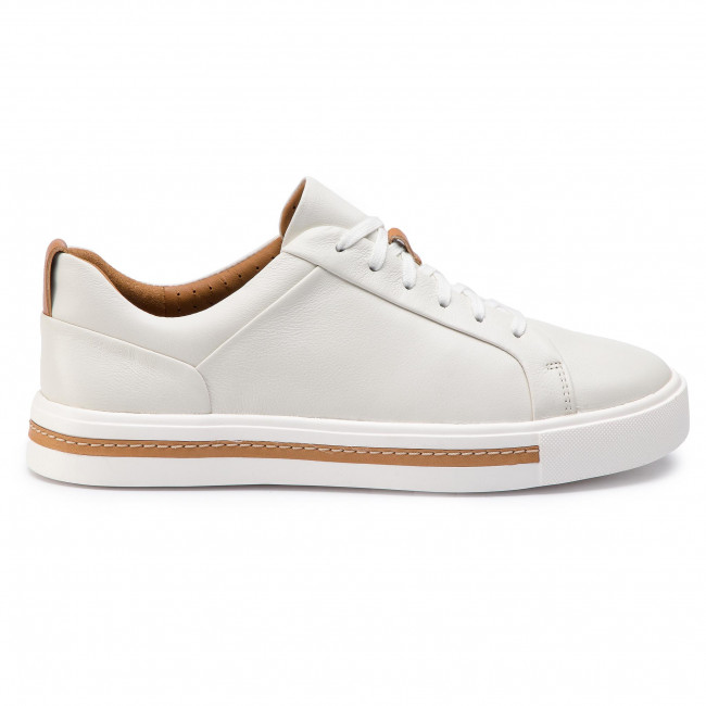 Sneakers CLARKS - Un Maui Lace 261401684 White Leather - Sneakers - Lågskor - Damskor