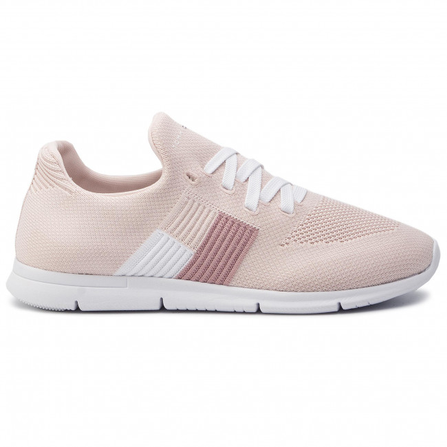 Sneakers TOMMY HILFIGER Knitted Flag Light Sneaker FW0FW04144 Silver Peony 658