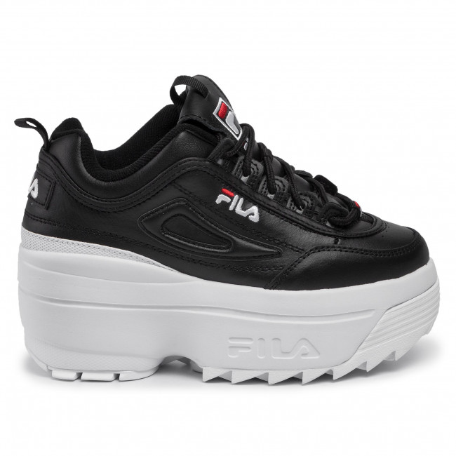Sneakers FILA Disruptor II Wedge Wmn 5FM00704.014 BlackWhiteFila Red