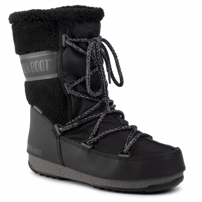 Vinterskor MOON BOOT Monaco Wool Mid Wp 240090001 Black