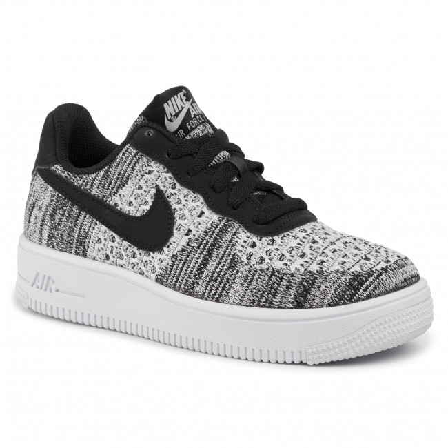 Skor NIKE Air Force 1 Flyknit 2.0 (GS) BV0063 001 BlackPure PlatinumWhite