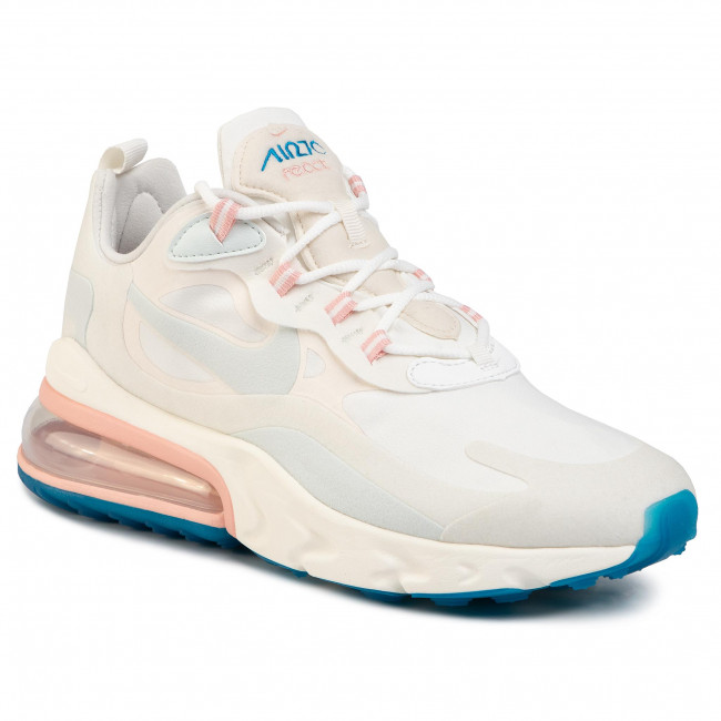 Skor NIKE Air Max 270 React AO4971 100 Summit WhiteGhost Aqua