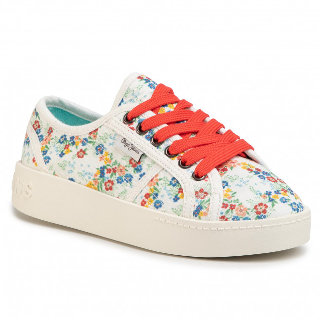 Sneakers PEPE JEANS Brixton Flowers PGS30431 White 800