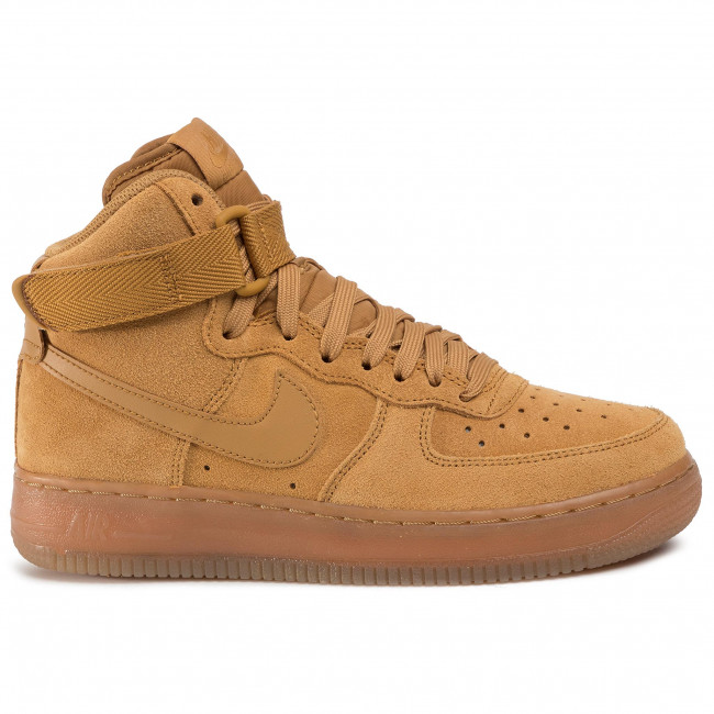 Skor NIKE Air Force 1 High Lv 8 3 (GS) CK0262 700 WheatWheatGum Light Brown