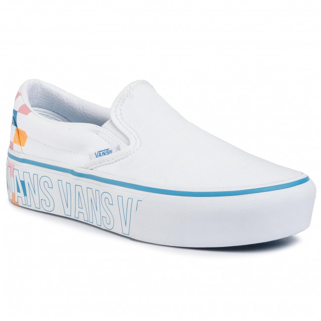 Sneakers VANS Classic Slip On P VN0A3JEZAHP1 True WhiteMulti