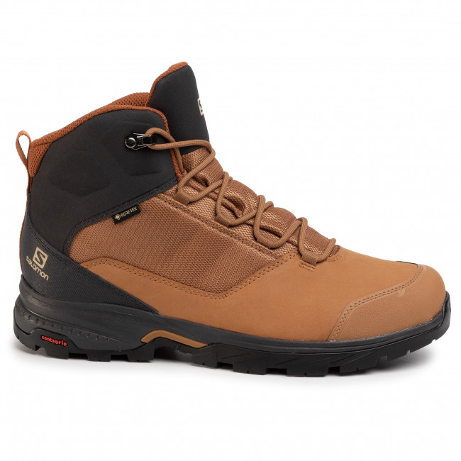 Trekking skor SALOMON Outward GTX GORE TEX 410423 31 V0 Tabacco BrownPhantomCarmel Cafe