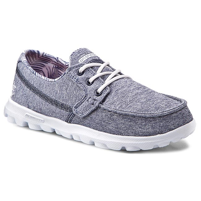 Mockasiner SKECHERS - On The Go Flagship 13727/NVW Navy/White