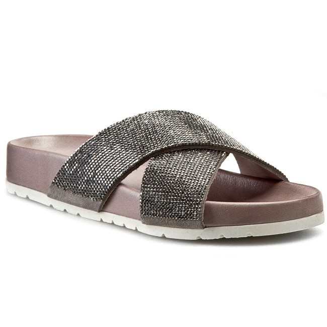Sandaler INUOVO - Angelique 5111  Grey Lea/Grey Strass