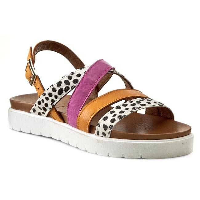 Sandaler INUOVO - Banana 5026  Cheetah/Orange/Fuxia Cheetah