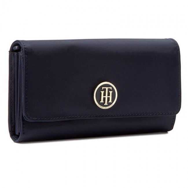 Stor damplånbok TOMMY HILFIGER - Poppy Large E/W Wallet AW0AW03726 413