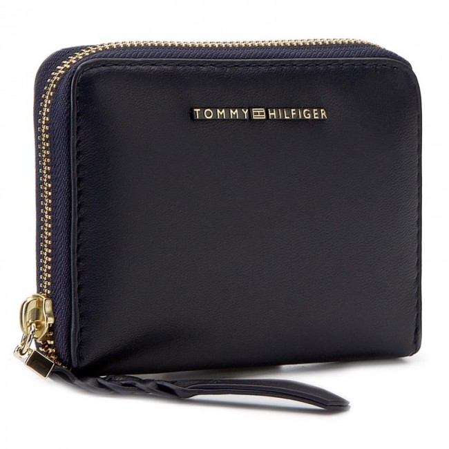 Stor damplånbok TOMMY HILFIGER - Leather Twist Compact Wallet AW0AW03730 413