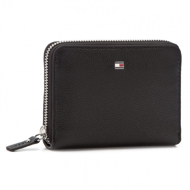 Stor damplånbok TOMMY HILFIGER - Basic Leather Compact Z/A Wallet AW0AW03731  002