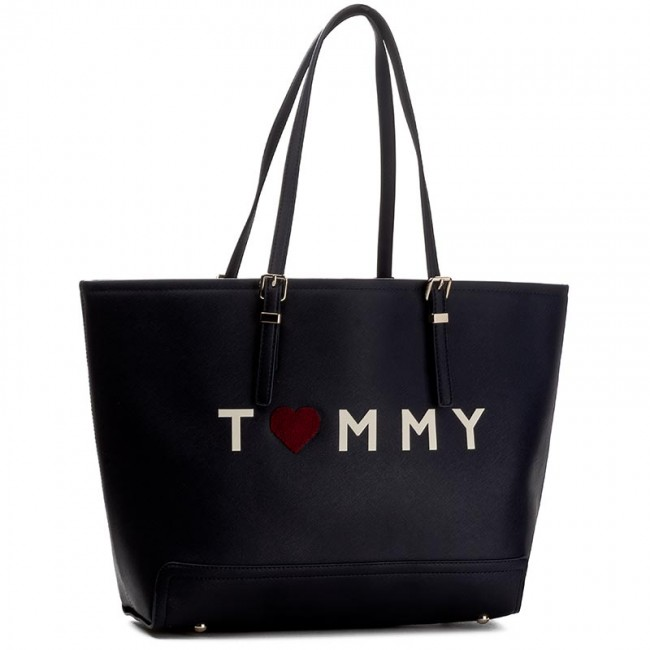 Handväska TOMMY HILFIGER - Honey Ew Tote Love Tommy AW0AW03929 909
