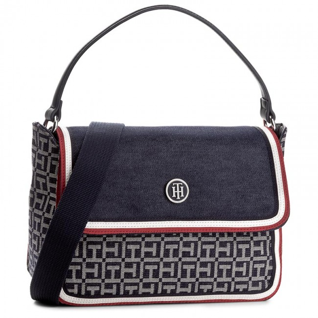 Handväska TOMMY HILFIGER - Th Essentials Satchel Denim AW0AW03657 903