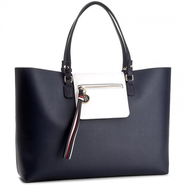 Handväska TOMMY HILFIGER - Love Tommy Reversible Tote AW0AW03693 902