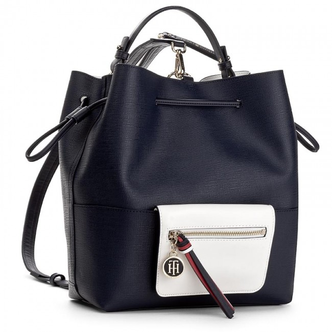 Ryggsäck TOMMY HILFIGER - Love Tommy Bucket/ Backpack AW0AW03689 902