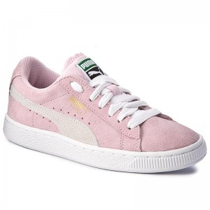 promo code 0142b e3f63 Sneakers PUMA - Suede Jr 355110 30 Pink Lady White Team Gold