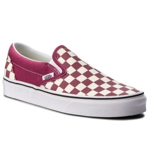 64507f99d6 Sneakers VANS Classic Slip-On VN0A38F7U7A (Checkerboard) Dry Rose/W