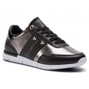 pretty nice b8133 db75d Sneakers TOMMY HILFIGER - Tommy Essential Leather Sneaker FW0FW03688 Black  990